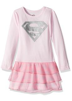 DC Comics Toddler Girl's Supergirl Sparkle Tutu Pajama Nightgown Sleepwear