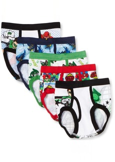Handcraft Little Boys' Justice League  Brief (Pack of 5) Multi