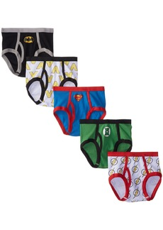 Handcraft Little Boys'  Justice League Logo Brief (Pack of 5)