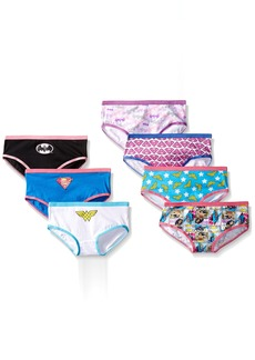 Handcraft Little Girls'  Justice League Hipster  Underwear (Pack of 7)