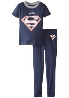 Intimo Little Boys' Toddler DC Comics Superman Football Pajamas