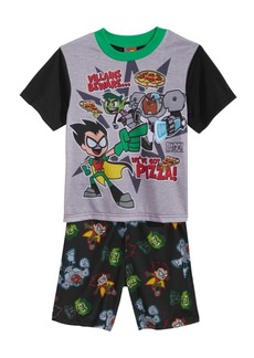 DC Teen Titans 2-Pc. Graphic-Print Pajama Set, Little & Big Boys