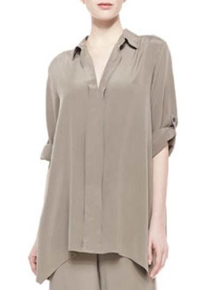 Go Silk Dolman-Sleeve Silk Tunic, Women's