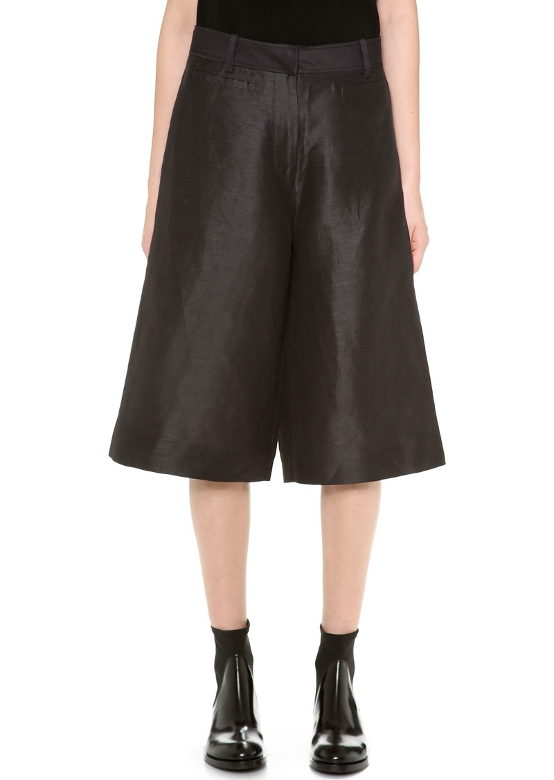 acne acne studios kat s shantung trouser shorts shorts shop it to me. Black Bedroom Furniture Sets. Home Design Ideas