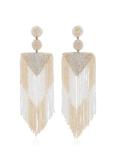 Deepa Gurnani - Women's Exclusive Jody Beaded Earrings - White/turquoise - Moda Operandi