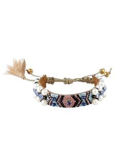 Deepa Gurnani Women's Deep Gurnani Indigo Beaded Bracelet