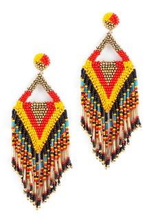 Women's Deepa Gurnani Bina Beaded Tassel Drop Earrings