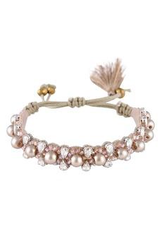 Women's Deepa Gurnani Camryn Imitation Pearl & Crystal Bracelet