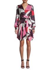 Delfi Collective Camille Geometric Print Wrap Dress