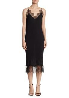 Delfi Collective Claire Lace-Trim Slip Dress