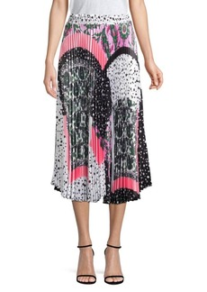 Delfi Collective Clara Mixed Print Midi Skirt