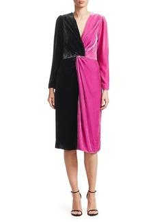 Delfi Collective Frankie Colorblocked Velvet Dress