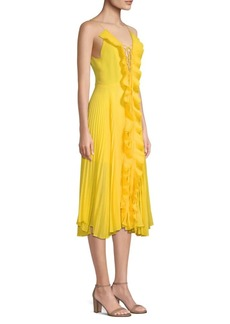 Delfi Collective Gwen Pleated A-Line Dress