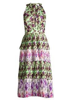 Delfi Collective Jules Halter Tiered Midi Dress