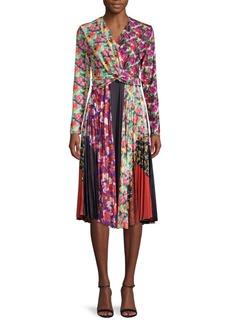 Delfi Collective Knot-Front A-Line Dress