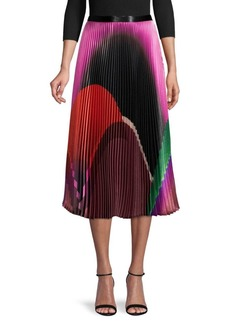 Delfi Collective Printed Pleated Skirt