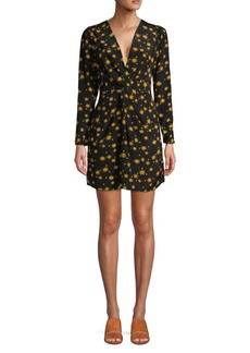 Delfi Collective Sun-Print Mini Silk Dress