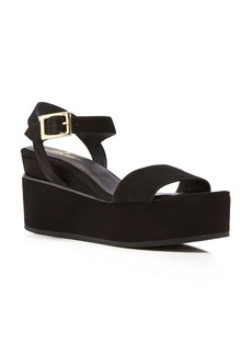Delman Angie Platform Wedge Ankle Strap Sandals