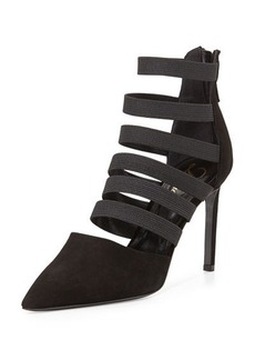 DELMAN Bae Strappy Point-Toe Bootie