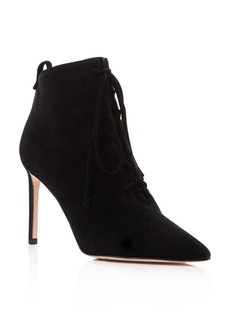 Delman Becca High Heel Lace Up Booties