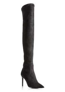 Delman Bet Stretch Suede High Shaft High Heel Boots