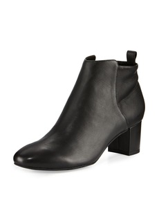 Delman Betsy Leather Block-Heel Bootie