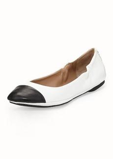 Delman Blair Cap-Toe Ballet Flat