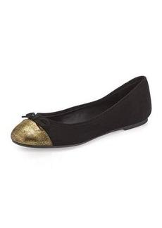 DELMAN Blake Round-Toe Ballerina Flat