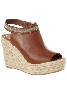 Delman Delman Ali Leather Wedge Sandal