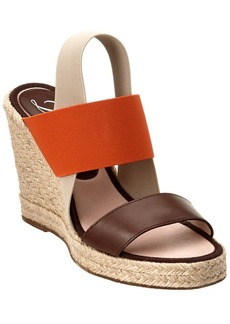 Delman Delman Jamie Leather Wedge Sandal
