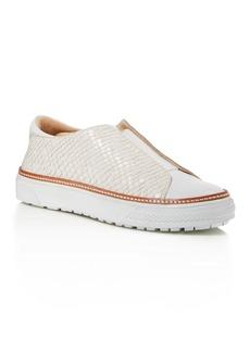 Delman Embossed Slip-On Sneaker
