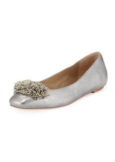 Delman Frill Fringe Ballerina Flat