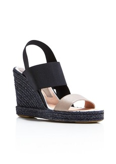 Delman Jamie Espadrille Wedge Slingback Sandals