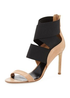 DELMAN Jean Stretch-Wrap Sandal