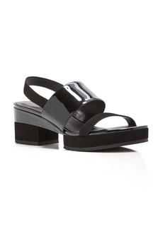 Delman Malia Platform Slingback Sandals