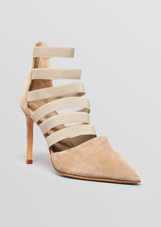 Delman Pointed Toe Pumps - Bae Multistrap High Heel