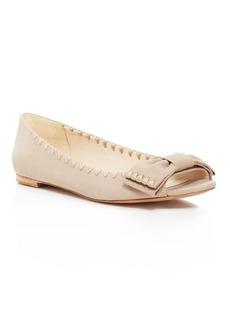 Delman Sami Peep Toe Bow Flats