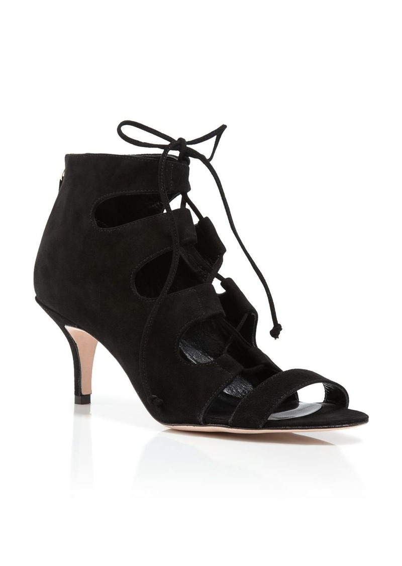 Delman Delman Sandals - Tryst Suede Lace Up Mid Heel | Shoes ...