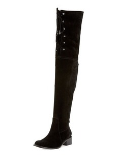 Delman Stacy Over-the-Knee Lace-Up Boot