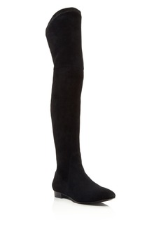Delman Stretch Suede Over The Knee Boots