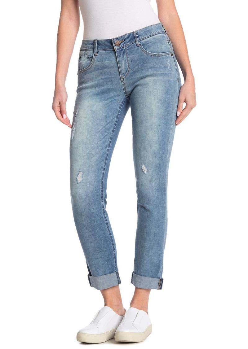 Democracy Cuffed Mid Rise Skinny Jeans