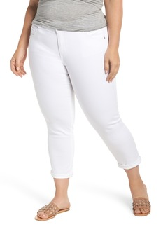 Democracy Ab-Solution Ankle Jeans (Optic White) (Plus Size)