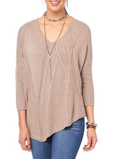 Democracy Asymmetric Textured Sweater