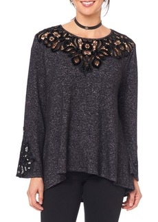 Democracy Bell-Sleeve Lace Top
