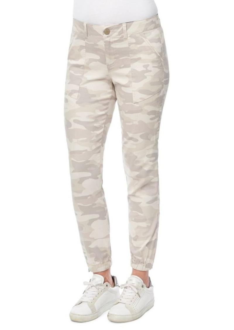 Democracy Camouflage-Print Stretch-Cotton Pants