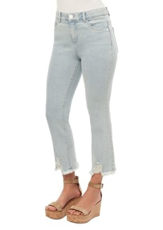 Democracy Distressed Cuff High-Rise Jeans
