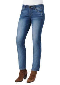 Democracy Distressed Straight-Leg Jeans