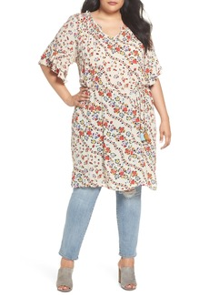 Democracy Double Ruffle Smocked Floral Dress (Plus Size)