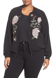Democracy Embroidered Bomber Jacket (Plus Size) (Nordstrom Exclusive)