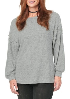 Democracy Faux Pearl-Embellished Sweater